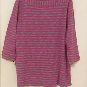 Talbots Womans Casual Striped Shirt